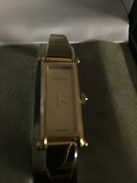 Rectangular gold color analog watch with link bracelet Brentwood, 94513