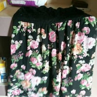 black, pink, and green floral skirt Chaparral, 88081