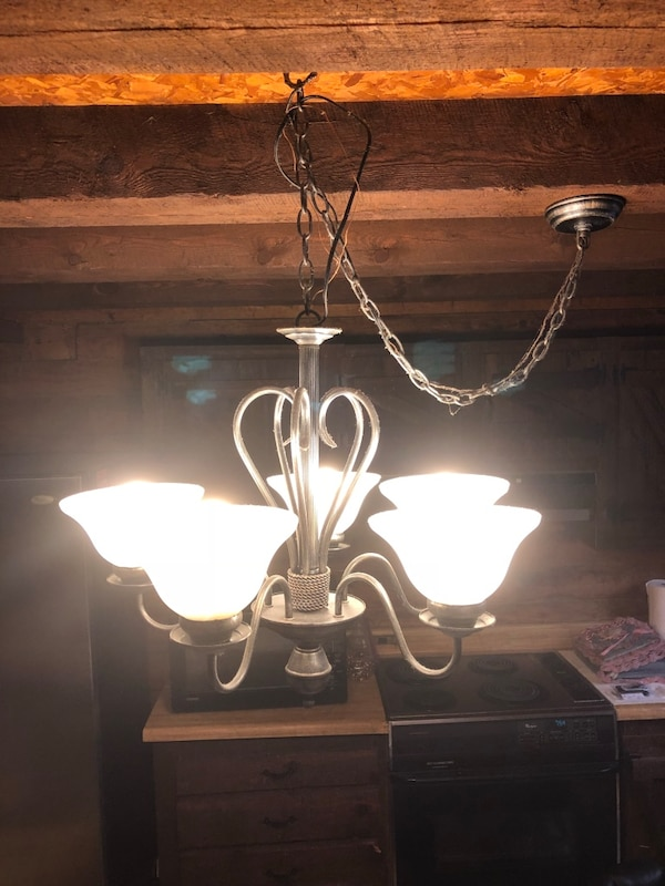2 hanging light fixture . $15 for 2
