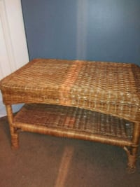 brown wicker framed brown padded ottoman Washington, 20017