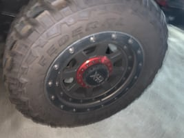20 inch XD KMC off-road rims with 35 inch Federal tires