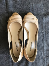 pair of white leather flats Sydney
