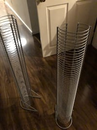 2 CD tower holders and 1 DVD make offer on each or all Calgary, T2W