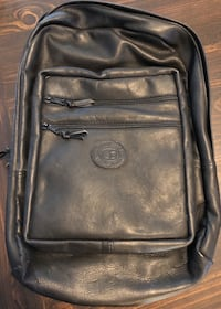 Roots new all leather black back pack