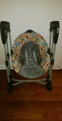 baby's gray and red swing chair 1181 mi