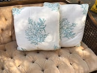 Blue coral throw pillows Lusby, 20629