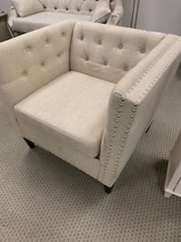white tufted sofa chair with throw pillow Stafford, 77477
