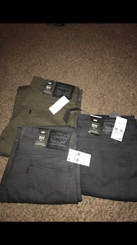 3 black and gray denim bottoms 2050 mi