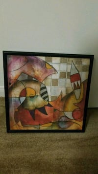 brown and red abstract painting 2279 mi