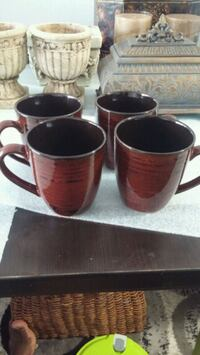 Four brown ceramic mug Toronto, M9V 4M2