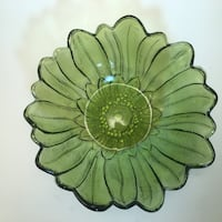 VTG Indiana Glass Green Berry /Salad Bowl Or Candy Dish Norman, 73071