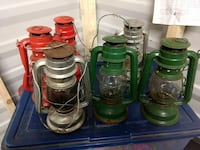 six assorted-color kerosene lamps Appling, 30802