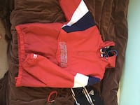 red and blue pullover hoodie