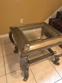 rectangular clear glass top table with black metal base Kissimmee, 34746