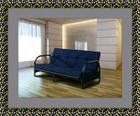 Black futon frame with mattress Woodbridge, 22191