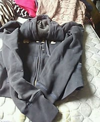 black and gray zip-up hoodie Bangor, 04401