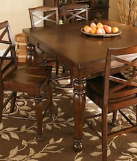 Ashley Porter bar height table with six chairs Alexandria, 22312