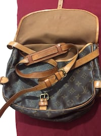 Borsa a tracolla Louis Vuitton in pelle nera e marrone Rome, 00186
