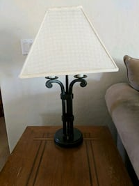 Lamp in expresso finish Gilbert