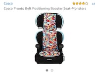 New, unused.. Cosco Pronto Belt Positioning Booster Seat-Monsters 514 km