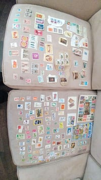 Stamp collection. Collection de timbres.