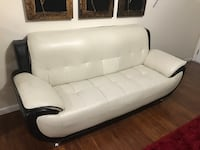 White leather 2-seat sofa great condition  Riverdale, 93656