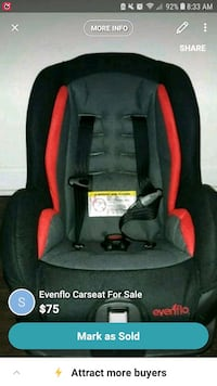 baby's black and red car seat carrier Charlotte, 28217