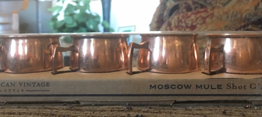 Photo American Vintage Moscow Mule Shot Glass Set