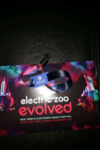ELECTRIC ZOO 2019 3 DAY PASS WRISTBAND North Bergen, 07047