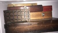 brown wooden chest box with brown wooden frame Surrey, V3V 3P1