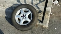 gray 5-spoke car wheel with tire Maple Ridge, V2X 2W8