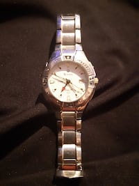 round silver-colored analog watch with link bracelet Edmonton