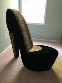 Leopard print high heel chair  Gainesville
