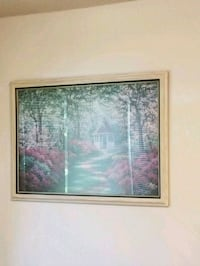 brown wooden framed painting of trees Wake County, 27592