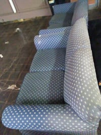 gray and white polka dot sofa chair Tulsa, 74116