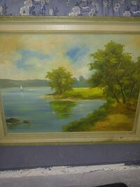 brown wooden framed painting of house near river New Westminster, V3M 1P9
