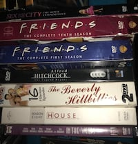 four assorted DVD movie cases Spring, 77373
