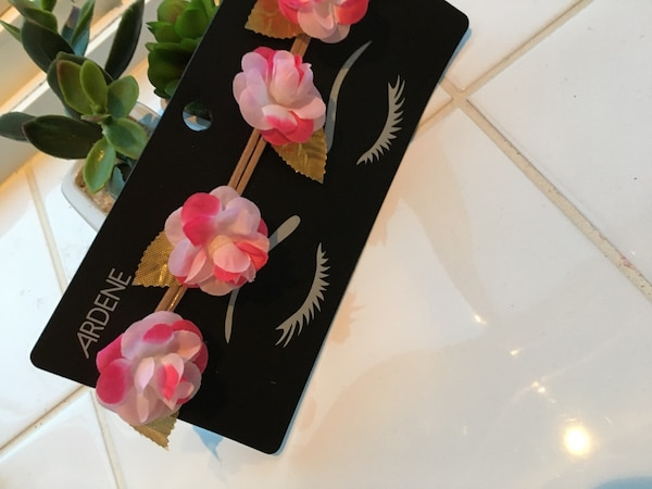 Red and pink rose flowers headband