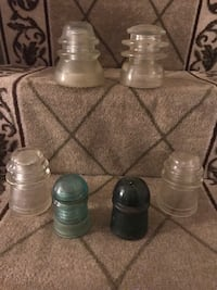four clear glass candle holders Silver Spring, 20902