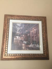 Faux gold and bronze framed painting of city Crestwood, 63126