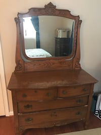 Antique wood dresser