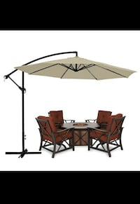 New in box $60 each 10 feet offset off set umbrella tilt crank with cross stand included Whittier, 90605