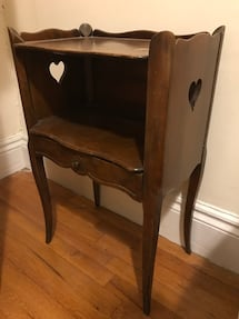 Antique Wood Bedside Tables (set of 2)