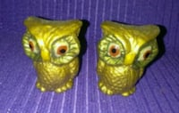Collectors salt and pepper shakers gold owls Liberty, 64068