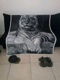 Tiger Large Blanket two different Styles New Miami Beach