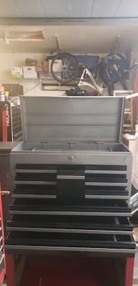 1960s 10 Drawer Tool Box Toolbox Chest