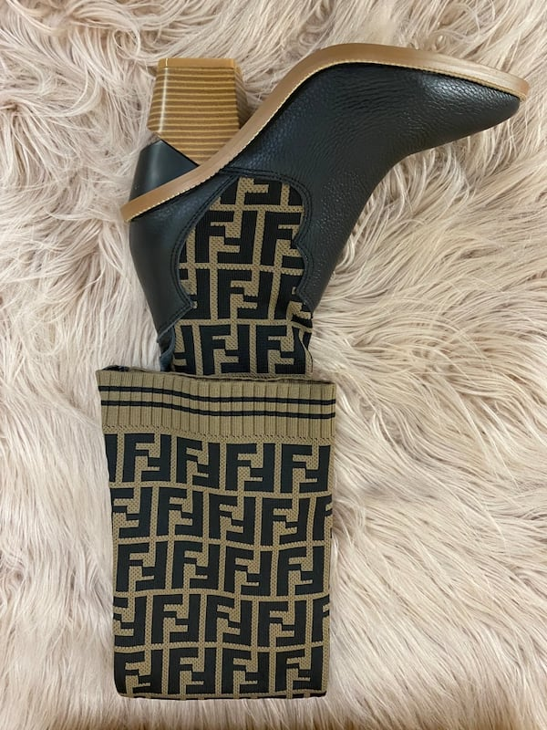 Fendi Monogram Sock Boots size 38/7.5/8 4
