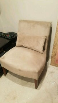 Beige Chair with Pillow