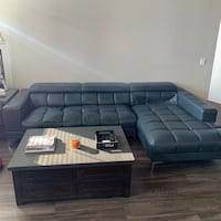 Blue Leather Sectional Couch  Chicago, 60605