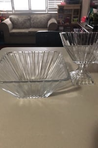Crystal fruit bowl and salad bowl (set)